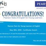 Exámenes internacionales Pearsons Test of English