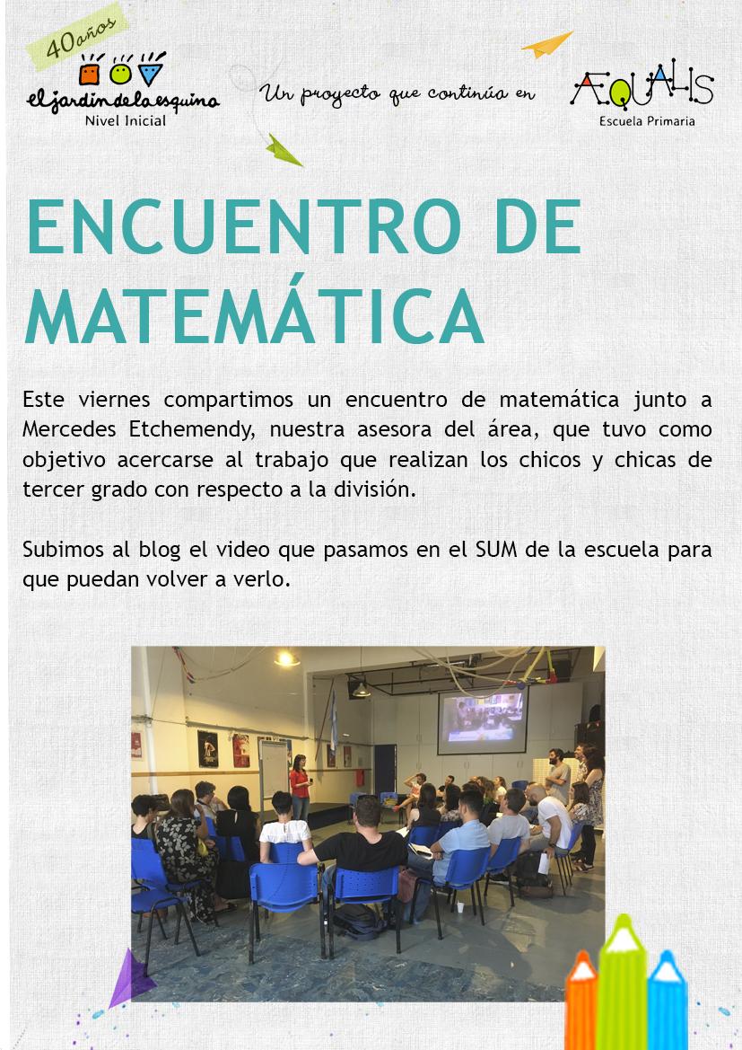 Encuentro de matemática